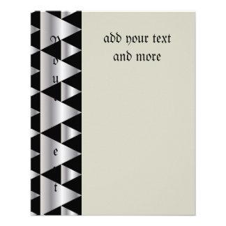 "Art deco,pattern,silver,black,elegant,chic,vintage 4.5"" x 5.6"" flyer"