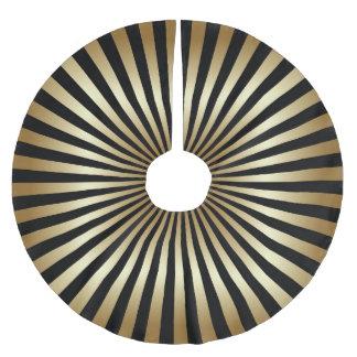 Art deco,pattern,stripes,gold,black,vintage,chic, brushed polyester tree skirt