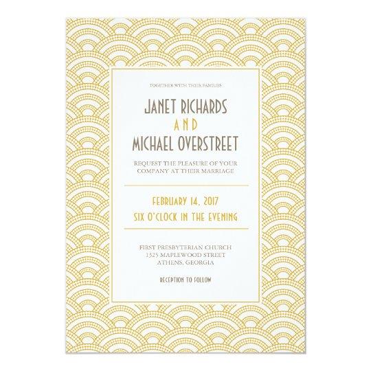Art Deco Pattern Wedding Invitation
