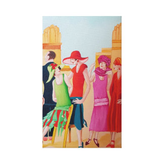 Art Deco People and Fashion Canvas