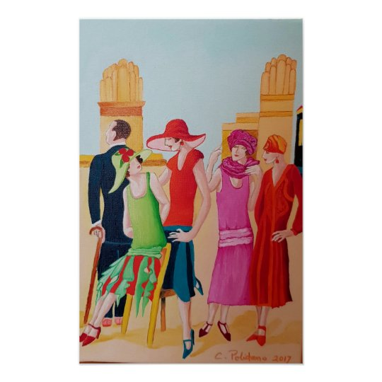 Art Deco People and Fashion Poster