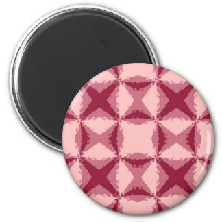 Art Deco Pink Floral Swirl Retro Abstract 6 Cm Round Magnet