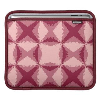 Art Deco Pink Floral Swirl Retro Abstract iPad Sleeve