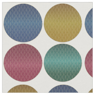 Art Deco Polka Dots Fabric