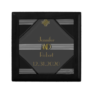 Art Deco Posh Wedding Gift Box