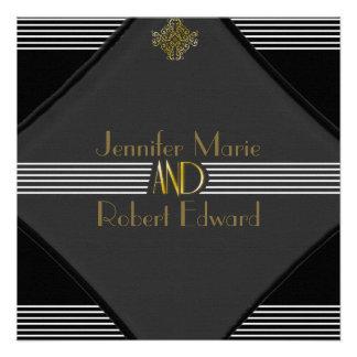 Art Deco Posh Wedding Invitation