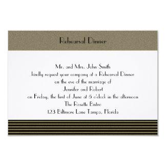 Art Deco Posh Wedding Rehearsal Card