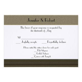 Art Deco Posh Wedding Response Card