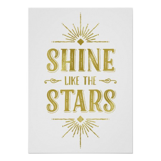 Art Deco Quote | Faux Gold Foil Typography