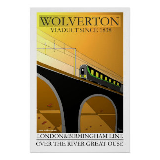 Art Deco rail travel poster