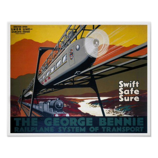 Art Deco Railway Travel GNER Vintage Poster Print