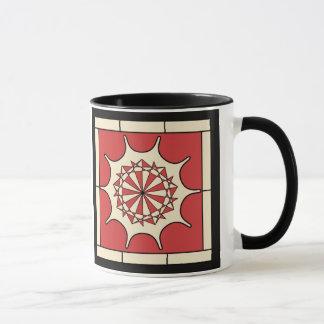 Art Deco Red Splash Mug