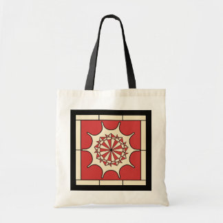 Art Deco Red Splash Tote Bag