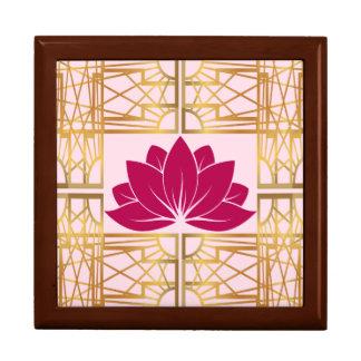 Art Deco Retro Lotus (cerise) Gift Box