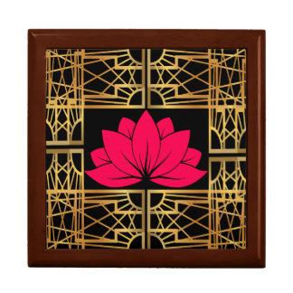 Art Deco Retro Lotus (save & black) Gift Box