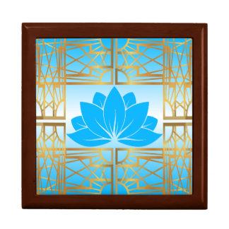Art Deco Retro Lotus (sky blue) Gift Box