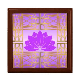 Art Deco Retro Lotus (violet) Gift Box
