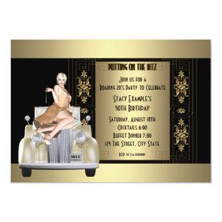 Art Deco Roaring 20's Birthday Party Card
