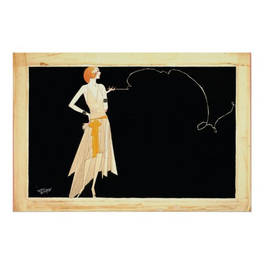 Art Deco ~ Roaring 20s Flapper Girl Poster