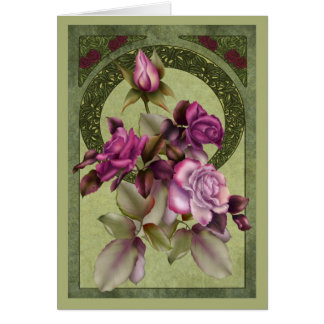 Art Deco Roses Card