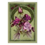 Art Deco Roses Greeting Card