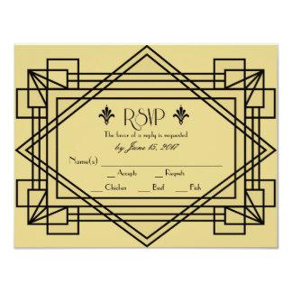 Art Deco RSVP Wedding invitation