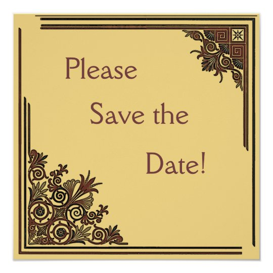 Art Deco Save the Date Cards