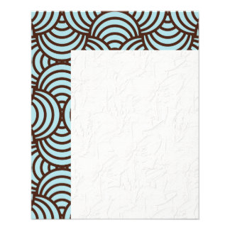 Art deco,scales,teal,brown,chic,trellis,pattern,vi 11.5 cm x 14 cm flyer