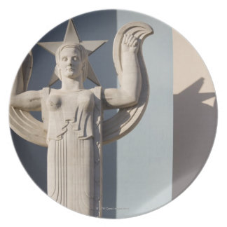 Art Deco Sculpture at the State Fair of Texas Party Plate