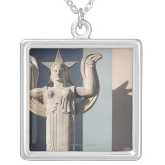 Art Deco Sculpture at the State Fair of Texas Silver Plated Necklace