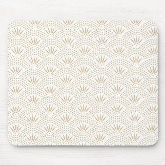 Art Deco Seigaiha Wave Pattern Mouse Mat