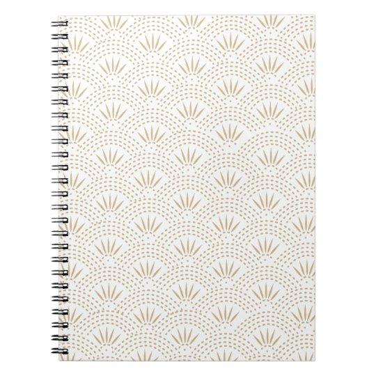 Art Deco Seigaiha Wave Pattern Notebooks