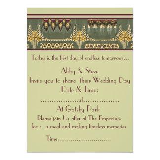 Art Deco Series: Wedding Stationary, Invitation
