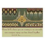 Art Deco Series: Wedding Stationary, R.S.V.P Cards Business Card Templates