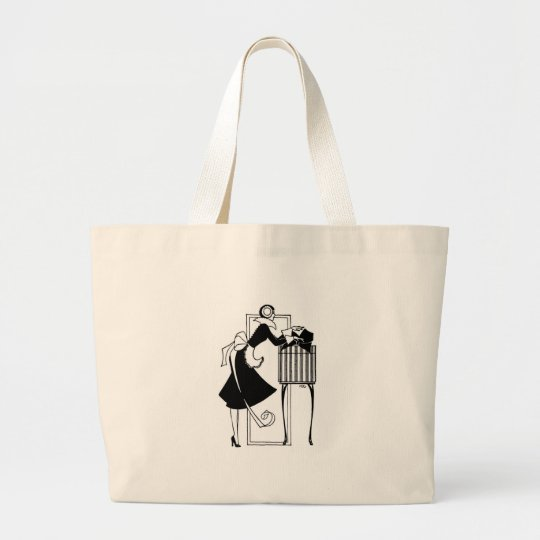 Art Deco Shopper Large Tote Bag