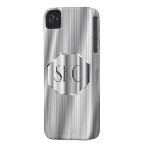 Art Deco Silver Monogrammed Case-Mate for iPhone 4 iPhone 4 Case