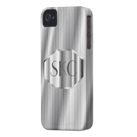 Art Deco Silver Monogrammed Case-Mate for iPhone 4
