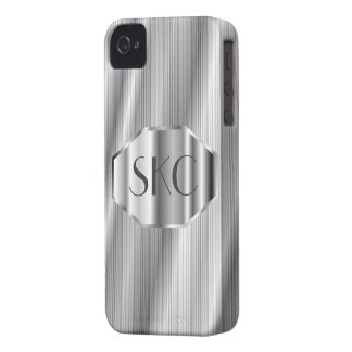 Art Deco Silver Monogrammed Case-Mate for iPhone 4 iPhone 4 Covers