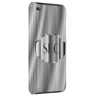 Art Deco Silver Monogrammed Case-Mate for iPod
