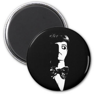Art Deco - Sin City Style Man - Black & White Magnets
