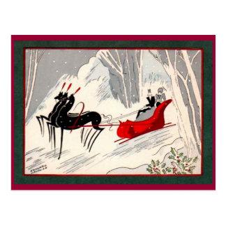Art Deco sleigh Postcard
