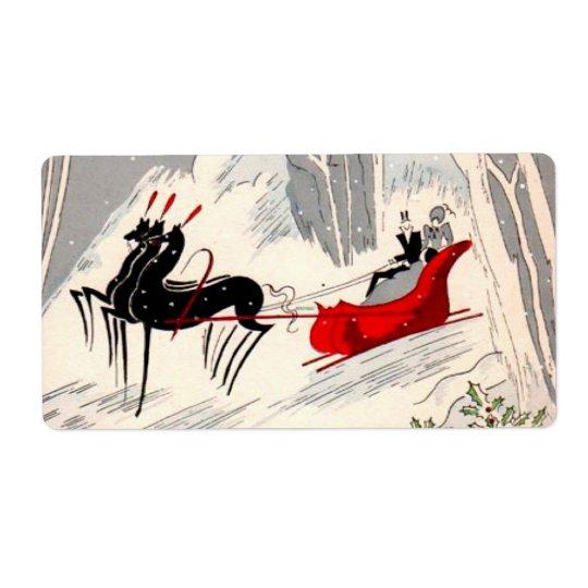 Art Deco sleigh ride