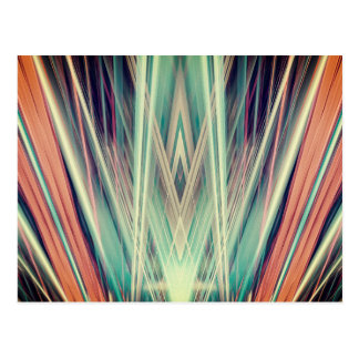 Art Deco spotlights pattern Postcard