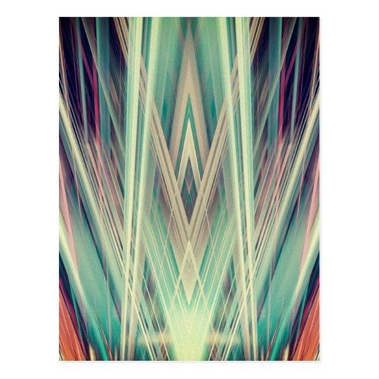 Art Deco spotlights pattern Postcard