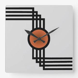 Art Deco Square Wall Clock