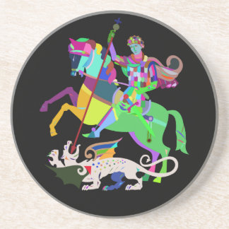 Art Deco St George the Dragon Slayer Coaster