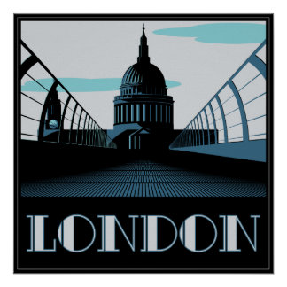 Art Deco St Pauls, London Poster