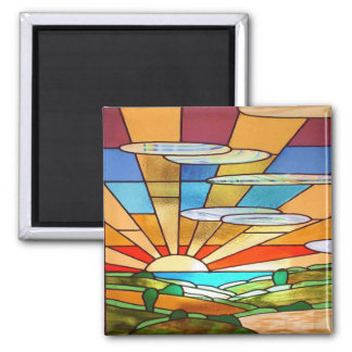 Art Deco Stained Glass 1 Magnet