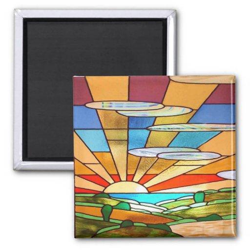 Art Deco Stained Glass 1 Fridge Magnet