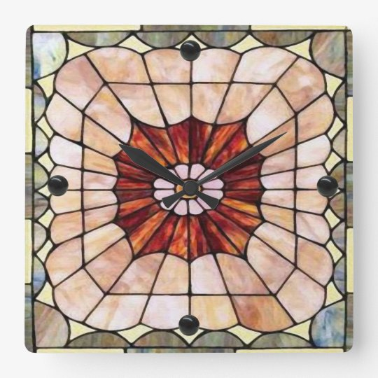 Art Deco Stained Glass 2 Wall Clock